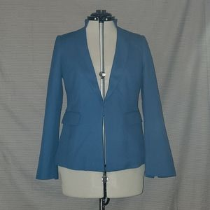 WHBM Snake Blue/Teal Luxe Suiting Jacket Blazer